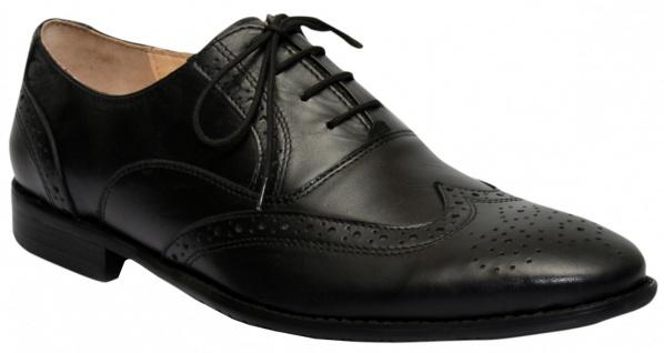 Business-schuhe Oxford Brogues Lederschuhe Schuhe Schwarz - Vorschau 1