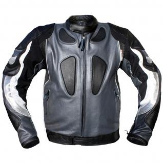 Lederjacke Motorradjacke Kombijacke aus Rindsleder - Vorschau 5