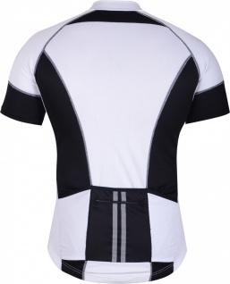 Trikot Radtrikot Fahrradtrikot Fahrrad Radler-Trikot Shirt Jersey Schwarz/Weiß - Vorschau 2