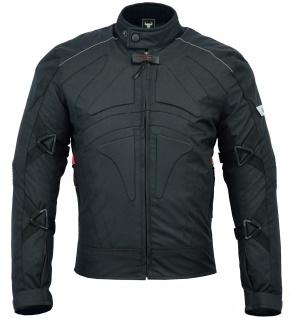 Motorradjacke Cordura Textilien kurze Jacke Schwarz