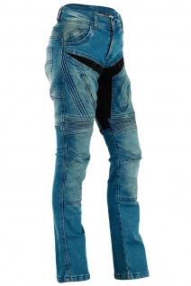 BULLDT Damen Motorradjeans Motorradhose Denim Jeans Hose mit Protektoren - Vorschau 3