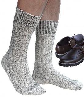 Kurze Trachtensocken Trachtenstrümpfe Zopf muster Socken 44cm Meliert - Vorschau 2