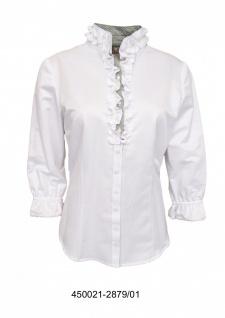 Trachtenbluse Damen Trachten lederhosen-bluse Trachtenmode Weiß