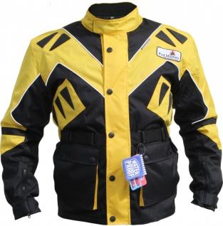 German Wear, Textilien Jacke Motorradjacke Kombigeeignet Gelb Gr.S-5XL