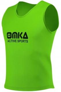 6 Stück OMKA Fußball Leibchen Trainingsleibchen Markierungshemd Fußballleibchen für Kinder Jugend und Erwachsene - Vorschau 4