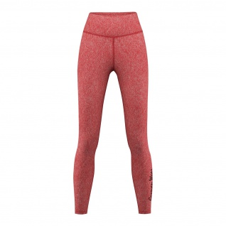 Leggings dehnbar Fitness Sport Yoga Gymnastik Training Tanzen Freizeit Rot melange