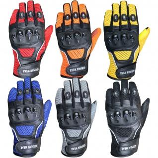 GermanWear Motocross Motorradhandschuhe Biker Handschuhe Textilhandschuhe 6x Farben