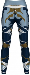 German Wear, Leggings Tights dehnbar für Sport Gymnastik Yoga Tanzen Training, Blau Camo