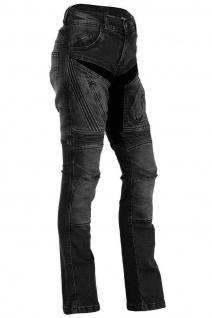 BULLDT Damen Motorradjeans Motorradhose Denim Jeans Hose Futter Abriebfest aus Aramidfasern Jeans inkl. Protektoren