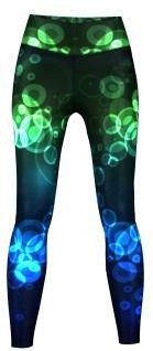 Crux Leggings sehr dehnbar für Sport, Yoga, Gymnastik, Training & Fashion Schwarz/Blau/Grün
