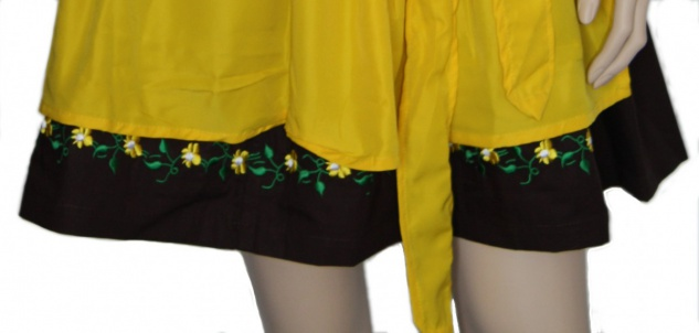 3-teilig Mini Dirndl dirndlbluse dirndlschürze Dirndel Trachtenkleid Gelb - Vorschau 5