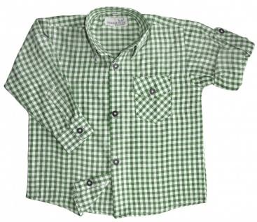 Kinder Trachtenhemd für Trachtenlederhosen Oktoberfest Trachtenmode grün/karo