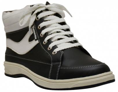 Sneaker lederschuhe turnschuhe Schuhe aus Glattleder Schwarz/Weiß