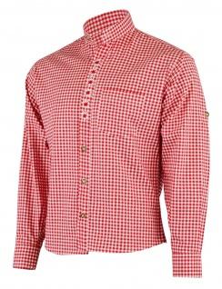 GermanWear Trachtenhemd mit Edelweiß-Stickerei stehkragen 100% Baumwolle - Vorschau 5