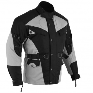 Motorradjacke Textilien Schwarz/Hellgrau - Vorschau 3