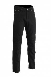 GermanWear Motorradjeans Motorradhose Futter aus Kevlar® stoff Jeans mit Protektoren schwarz