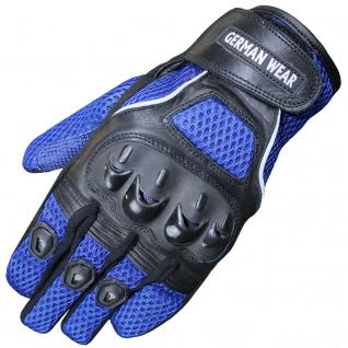RadMasters, Motocross Motorradhandschuhe Biker Handschuhe Textilhandschuhe Blau - Vorschau 1