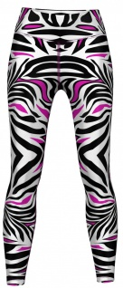Pink tone Zebra Stripes Leggings sehr dehnbar für Sport, Yoga, Gymnastik, Training, Tanzen & Freizeit