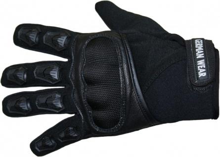 Motocross Motorradhandschuhe Biker Handschuhe Textilhandschuhe Schwarz - Vorschau 4