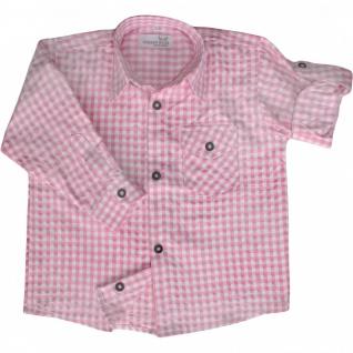 Kinder Trachtenhemd für Trachtenlederhosen Oktoberfest Trachtenmode Rosa/karo