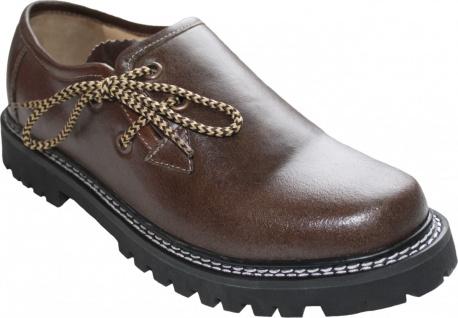Trachten Haferlschuhe Trachtenschuhe Pullup-Glattleder Pull-Up-Leder Schuhe Braun