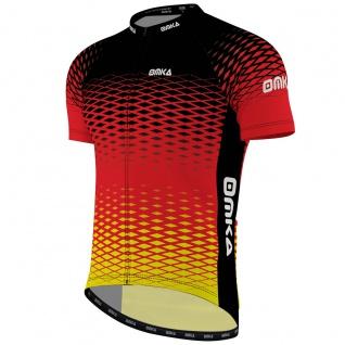 OMKA Herren Radtrikot Fahrrad Radler-Trikot Racing Performance Shirt mit Sublimationsdruck - Vorschau 2