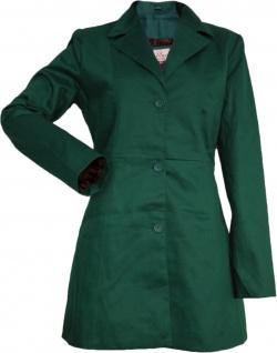 German Wear, Damen mantel Trenchcoat aus Baumwolle Grün