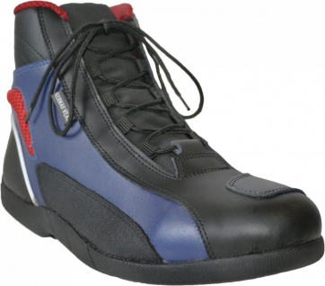 German Wear, Biker Motorradstiefel Motorrad Touring Stiefel stiefletten schwarz, blau/rot 17cm - Vorschau 3