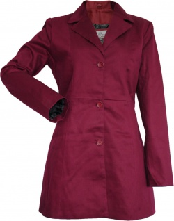 German Wear, Damen mantel Trenchcoat aus Baumwolle Weinrot