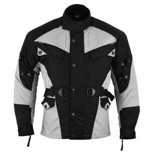 German Wear, Motorradjacke Cordura Textilien Schwarz/Hellgrau