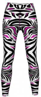 Pink tone Zebra Stripes Leggings sehr dehnbar für Sport, Gymnastik, Training, Tanzen & Freizeit