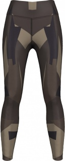 Techno Choclate Brown Camo Leggings dehnbar für Sport, Yoga, Gymnastik, Training, Tanzen & Freizeit