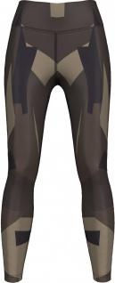 Techno Choclate Brown Camo Leggings sehr dehnbar für Sport, Gymnastik, Training, Tanzen & Freizeit