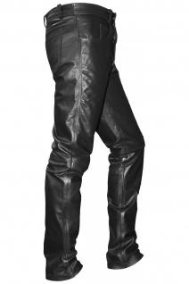 Lederhose lederjeans bikerjeans jeans hose aus Büffelleder Schwarz