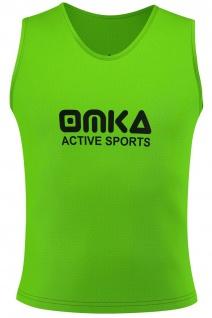 6 Stück OMKA Fußball Leibchen Trainingsleibchen Markierungshemd Fußballleibchen für Kinder Jugend und Erwachsene - Vorschau 3