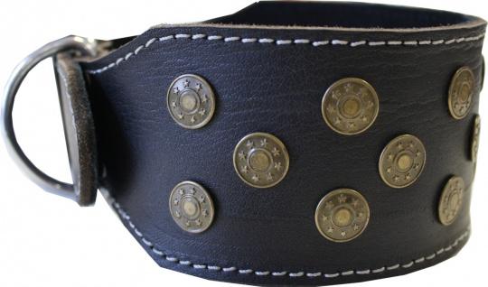 Hundehalsband aus echtem Leder 45-54cm in schwarz - Vorschau 3