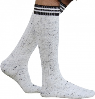 Lange Trachtensocken Strümpfe Socken aus Wolle Meliert