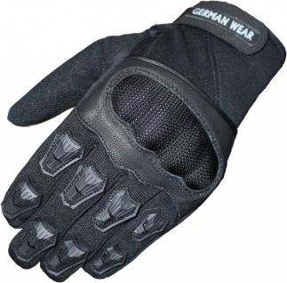 Motocross Motorradhandschuhe Biker Handschuhe Textilhandschuhe Schwarz - Vorschau 1