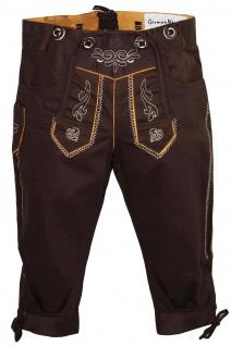 German Wear, Jungen Kniebundhosen kinder Hose Jeans Hose kostüme mit Hosenträgern dunkelbraun