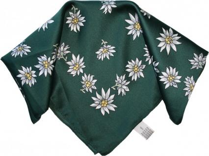 Halstuch Trachtentuch Polyester Edelweiss-muster nikituch 50x50cm 11x Farbtöne - Vorschau 2