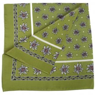 Seidentuch Halstuch Trachtentuch Edelweiss-muster nikituch aus Seide 52x52cm 12x Farbtöne - Vorschau 5