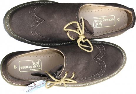Haferlschuhe Trachtenschuhe Brogue Trachten Schuhe echtleder wildleder Braun - Vorschau 2