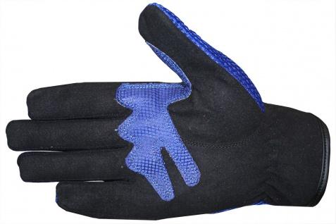 Motocross Motorradhandschuhe Biker Handschuhe Textilhandschuhe Blau - Vorschau 3