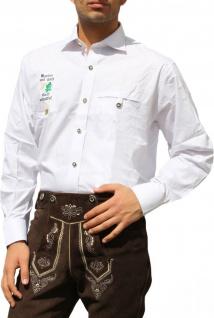 Bayerisches Trachtenhemd für Trachten lederhosen Trachtenmode Weiß