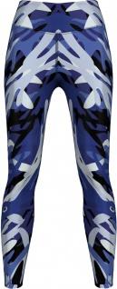 German Wear, Leggings dehnbar Sport, Gymnastik, Training, Yoga, Tanzen, Freizeit Blue Camo Angular