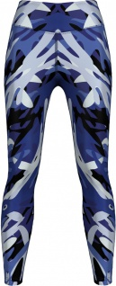 Leggings dehnbar Sport, Gymnastik, Training, Yoga, Tanzen, Freizeit Blue Camo Angular