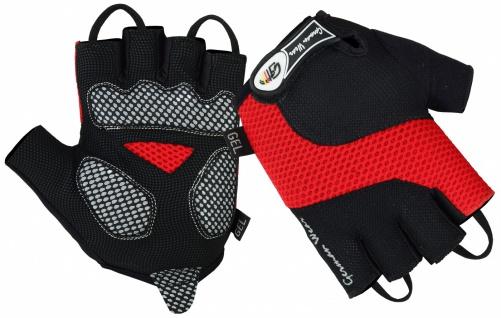 Fahrrad Radleder Handschuhe Fahrradhandschuhe Schwarz/rot