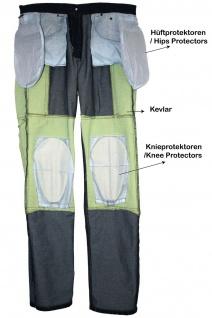 GermanWear® Motorradhose Motorradjeans, Futter aus Kevlar® stoff Cargohose mit Protektoren schwarz - Vorschau 5