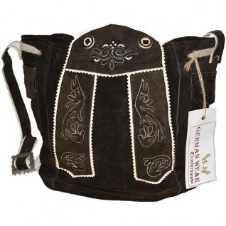 Damen Trachtentasche Dirndl Taschen Trachten ledertasche Dunkelbraun