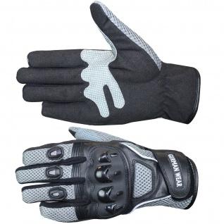 Motocross Motorradhandschuhe Biker Handschuhe Textilhandschuhe Grau - Vorschau 4